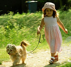 girl-walking-dog