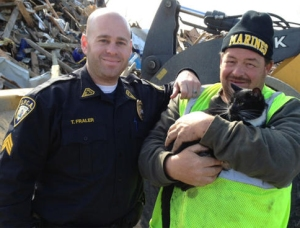 Patches the cat was rescued after Hurricane Sandy