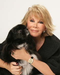 Joan Rivers with her dog, Max